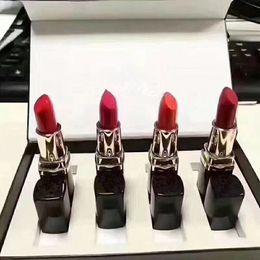 Heiße Makeup Lippenstift Set 4 teile / satz Lippe Make-up Set Matte Lippenstift 4farben Lippenstifte Make-up Kosmetik 4pcs / set im Angebot