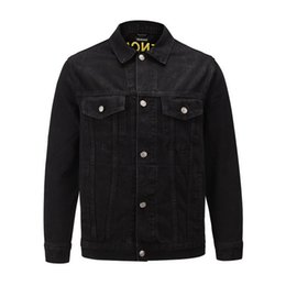fancy pocket Canada - HOT men's long-sleeved denim jacket new fancy tips. Black Fashion Week Men's Button Jacket Autumn Winter Trends Hip Hop Jacket S-XL