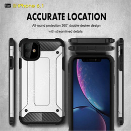 iphone plus shock proof case Canada - Armor Shock Proof designer phone case Foriphone 11 case iphone 12 case Coque iphone 11 pro max cases Hybrid Hard PC TPU Cover Capa