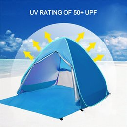 open beach tent Australia - Outdoor Tent 3-4 People Sun Protection UV50 Outdoor Beach Tent Folding Automatic Speed Open