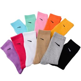 Wholesale candy ankle socks for sale - Group buy Womens new N long tube socks K fashion women s Stockings candy color sports stockings cotton mens basketball socks colors