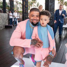 Wholesale mens slim fit pink suit for sale - Group buy Pink Slim Fit Mens Suits Wedding Grooms Tuxedos Shawl Lapel Formal Blazer One Button Prom Suit Jacket Short Pants And Vest