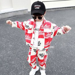 fashion kids jacket korean Canada - Boys Clothing Set New Boys Clothes Spring and Autumn Kids Clothes Fashion Fashion Korean-Style Two-Piece Suit Toddler A8QQ#