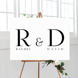 wedding canvas prints NZ - Personalise Wedding Custom Name Poster Nordic Art Print Minimalist Posters Chalkboard Removable Canvas Pictures Wedding Decor