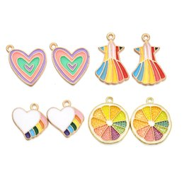 accessories for bag making Australia - Charms Pendants Cute Colorful Love Charms Pendants Alloy for Findings DIY Jewelry Bag Making Accessory Wholesale