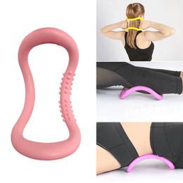 Опт PP Yoga Circle Оборудование Stretch Ring Фитнес Пилатес Круги Фитнес Обучение сопротивления Вспомогательный инструмент теленок Главная Обучение спортивных товаров