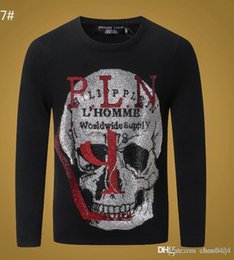 Wholesale knitted skull sweater online – design price new autumn winter high end designer men s knit pullovers fashion skull warmth high quality sweater m xxxl