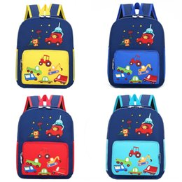 cool cartoon boys NZ - Children's 2020 new cartoon cute car kindergarten schoolbag trendy cool printed baby Schoolbag Backpack backpack