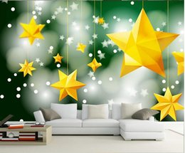 stars mural Australia - 3D wall murals wallpaper custom picture mural wall paper The brightest star in the sky 3D TV background wall home decor