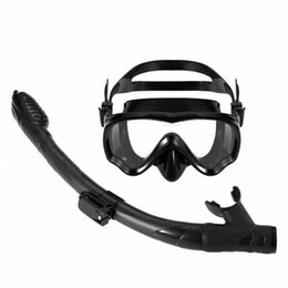 mask scuba equipment NZ - Kids Adult Scuba Diving Mask Tube Set Snorkeling Mask Goggles Glasses Swimming Diving Equipment Dry Snorkel Swimming Pool djtv#