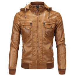 Wholesale leather sheepskin jacket for men resale online - Michael Jackson Sheepskin Leather Jackets For Men Winter Autumn Streetwear Hooded Leather Jacket and Coat For Men Clothing B092