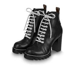 adhesive fabric ribbon Australia - Lace Up Ribbon Ankle Shoe Women Boot Winter Leather