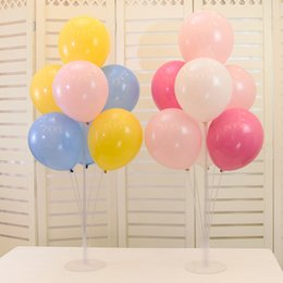 balloons columns Canada - 7 Tubes Balloons Holder Column Stand Clear Plastic Balloon Stick Birthday Party Decoration Kids Adult Wedding Balloons Decor