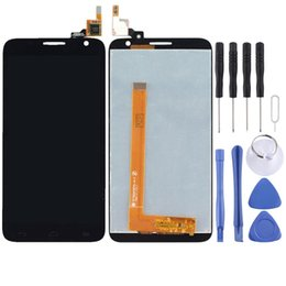 alcatel idol lcd UK - LCD Screen and Digitizer Full Assembly for Alcatel One Touch Idol 2 S   6050   6050Y   OT-6050
