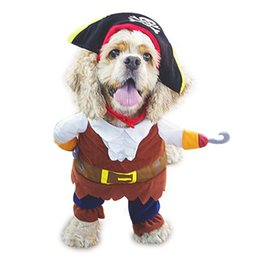 pirates caribbean movie costumes Australia - SEIS Caribbean Pirate Pet Costume Clothes Halloween Christmas Cosplay Funny Apperal for Small Dog Cat Puppy Pet