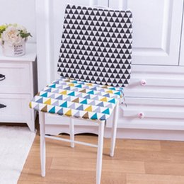 ass pads UK - Office Padded Cushions Student Classroom Winter Ass Pad Pink Polar Bear  Black Geometry Color Geometry Pink Lattice Seat Cushion Cushi 9Fxu#