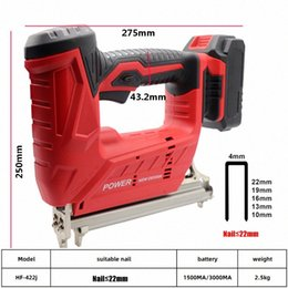 wood working tools Canada - Wireless Electric Nail Guns 1500 3000MA 10-22mm Nailer Stapler Furniture Frame Carpentry Wood working Tools JqT9#