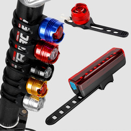 helmet bike light UK - Bicycle Tail Light Safety LED Rear Lamp for Bike Motorcycle Taillight Cycling Helmet Lights Traffic Turn Signal Lamps Helmlampe