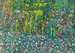 gustav klimt paintings NZ - Gustav Klimt -Garden on the Hill Home Decor Handpainted &HD Print Oil Painting On Canvas Wall Art Canvas Pictures 200711