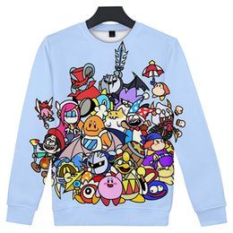 printed electronics Australia - Video game series star card kirby digital Electronic wool Sweater wool color printing long sleeve fleece round collar sweater