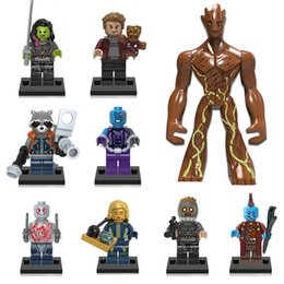 galaxy block Australia - Guardians of the Galaxy Building Blocks Tree Man Groot Star Lord Rocket Raccoon Gamora Yondu Nebula Ayesha Drax Mini Action Figure Toy