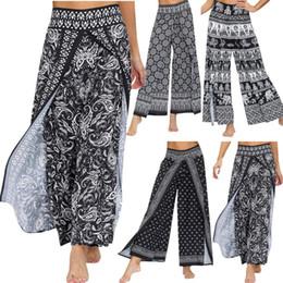 Wholesale baggy yoga pants resale online – NEW Women Casual Loose Yoga Pants Trousers Baggy Boho Travel Jumpsuit Harem Pants High Waist Sports Comfortable Yoga L722