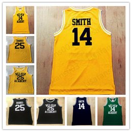 Wholesale movies 25 for sale – custom 14 Will Smith Carlton Banks The Fresh Prince of Bel Air Academy Movie Basketball stitched Jerseys black yellow green