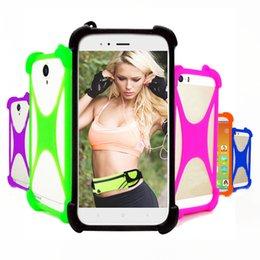 bumpers phone cases UK - Case For Digma Hit Q401 3G Universal Silicone Elastic Bumper Cell Phone Cover Case For Digma Linx Alfa Atom Joy 3G Phone Cases