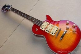 ace guitar Canada - New Arrival Ace frehley Electric Guitar Solid Mahohgany Body Neck Top Quality In Cherry Burst 121222