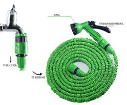expandable hose spray UK - 100FT Garden Hose Expandable Magic Flexible Water Hose EU Hose Plastic Hoses Pipe With Spray Gun To Watering