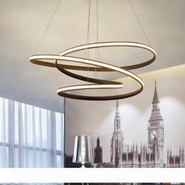 chandeliers remote control lights UK - Modern LED Pendant chandelier lights lamp for dinning room living room lampadario moderno Lustre Chandelier Lighting AC85-265V