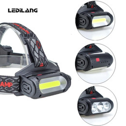 red headlamp Australia - Lediland COB Headlamp 8 Mode Red Green Light Rotatable T6 LED head light for Camping Hiking Fishing 18650 Battery