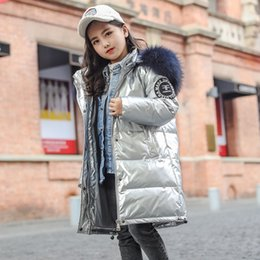 bright coating NZ - EcTrd Special price children's bright mid-length thickened coat medium and large children's large fur collar warm Warm jacket down jacket wh