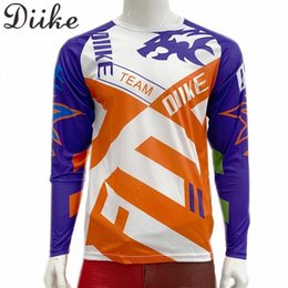 race bmx bikes UK - 2020 2020 DIIKE Downhill Jerseys Mountain Bike Racing Clothing DH MTB Shirt Black Long Jersey BMX Motocross T Shirt Men rZN8#