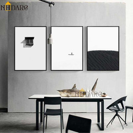 Discount simple wall art painting Modern Simple Black White Fashion Decorative Style Canvas Printing Painting Nordic Minimalist Home Decor Living Room Wal