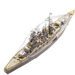 fruit toy puzzles Australia - MMZ MODEL Piececool 3D metal puzzle Nagato Class Battleship Warship Assembly metal Model kit DIY 3D Laser Cut Model puzzle toys