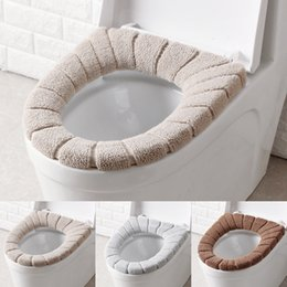 warm toilet seat covers Canada - Soft Toilet Seat Cover Washable Toilet Seat Mat for Bathroom Closestool Mat Seat Case Warmer Toilet Lid Cover Accessories WX9-1899