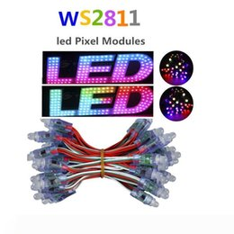 rgb modules wholesale UK - 12mm DC5V WS2811 Module Diffused Digital RGB LED Pixels Full Color Christmas IP68 Waterproof Outdoor Lighting LED Pixel Lights