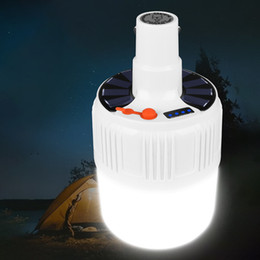 tent lighting night Australia - LED Emergency Light Charging Wireless Waterproof Night Market Lamp Camping Light Tent Chandelier Barbecue