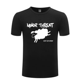 vintage rock clothing UK - Minor Threat Out Of Step Rock Music Men's T-Shirt T Shirt Men 2018 New Vintage Clothes 100% Cotton Fashion Classic