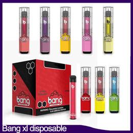 Wholesale Bang XL Xtra Disposable Device Pod Pre-filled 2ml Cartridge 450mAh Battery 600 Puff Vape Empty Pen VS Posh PLUS Bar Flow DHL