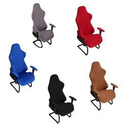 computer protectors NZ - Computer Seats Protector Spandex Elastic Decoration Soft Chair Covers Removable Gaming Office Armchairs Polyester Modern