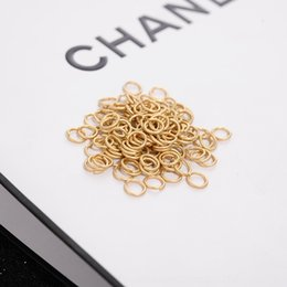 kc gold color UK - DIY basic materials color protection KC gold Yajin opening ring earrings handmade Diy handmade connection opening accessories