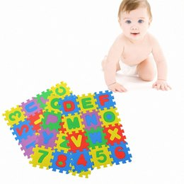 colorful puzzles UK - A-Z Alphabet Letters Numeral Foam Mat Play Mat Colorful Puzzle Kid Educational Toy Popular New Drop Shipping 6Tc4#