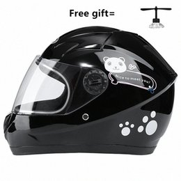 pink black motorcycle helmet Canada - Pink Yellow Black Average Size New Style High Quality Cartoon Kids Motorcycle Helmet Child Kids Casco Helmets For Cheap Helmets For Mo qhA3#