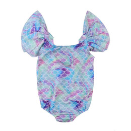 Wholesale mermaid costume girl online – ideas Infant Kid Baby Girl Mermaid Clothig Ruffles Swimwear Swimsuit Bikini Bathing Suit Costume Beach