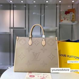 Toptan satış M44571 44571 kadın çanta Klasik Çiçek kompozit Alışveriş cüzdan Tek omuz çantası çanta Totes cebe