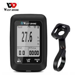 wireless bicycle UK - WEST BIKING Mountain road GPS code meter multi-functional luminous bicycle Luminous bicycle riding wireless mileage code meter