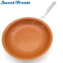 steel induction UK - Sweettreats Non -Stick Copper Frying Pan With Ceramic Coating And Induction Cooking Oven &Dishwasher Safe New