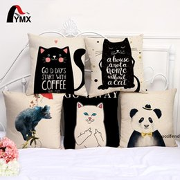 ethnic cushions covers Australia - cartoon cat Pillowcase Bohemian bed bear Pillowcover animal Cotton Linen Ethnic car Pillow Cover Bedroom sofa Throw Cushion Pillow case
